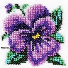 Simple Cross Stitch, Cross Stitch Rose, Cross Stitch Flowers, Modern Cross Stitch, Cross Stitch Designs, Cross Stitch Patterns, Fuse Bead Patterns, Bead Crochet Patterns, Beading Patterns