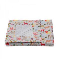 Βρεφική κουβέρτα με σχέδιο Ζώα της Ζούγκλας. (BS11-966) Wallet, Purses, Diy Wallet, Purse