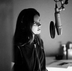 Lana Del Rey in the studio