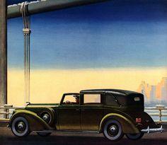 Plan59 :: Classic Car Art :: Vintage Ads :: 1939 Lincoln