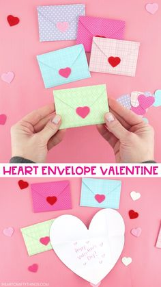Our free template and tutorial makes creating this heart envelope super easy. Here's a simple way to make a heart envelope card for Valentine's Day or Mother's Day. day gifts for him videos Easy Heart Envelope- Free Printable Template Valentines Bricolage, Valentine Crafts For Kids, Funny Valentine, Holiday Crafts, Valentine Cards, Valentine Ideas, Valentines Day Gifts For Him Diy, Diy Valentines Day Gifts For Him, Diy Gifts For Mom