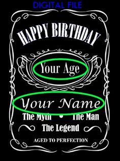 Happy Birthday Whiskey Bourbon Liquor Personalized Cake Topper Digital File by JurgitaBirseniene on Etsy Bolo Jack Daniels, Festa Jack Daniels, Jack Daniels Party, Jack Daniels Logo, Jack Daniels Whiskey, Happy Birthday Jack Daniels, Happy Birthday Whiskey, 40th Birthday, Bourbon Liquor