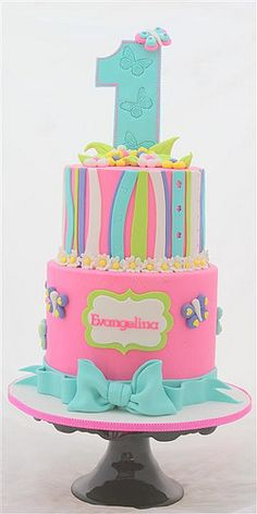 First Birthday Cake: maybe for the twins in a year. :) It fits perfectly!! except there's two of them!