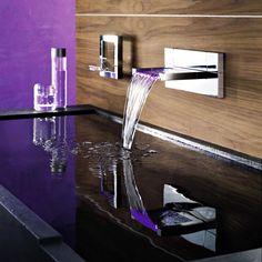 Cascade Robinet de lavabo de salle de bains contemporaine finition