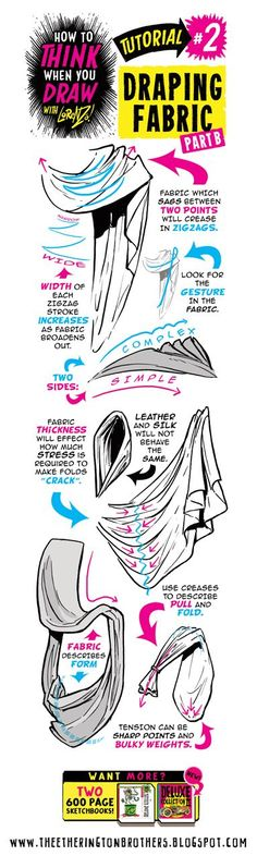 HOW+to+draw+fabric+folds+clothing+4+tutorial+lorenzo+etherington.jpg (383×1276)