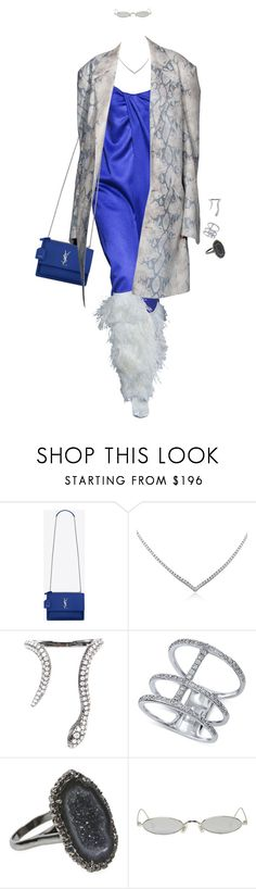 """""""Untitled #4488"""" by kimberlythestylist ❤ liked on Polyvore featuring Yves Saint Laurent, Mark Broumand, Elise Dray, Effy Jewelry, Kimberly McDonald and Gentle Monster"""