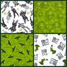 75 Years of Wickedness Wizard of Oz Fabric
