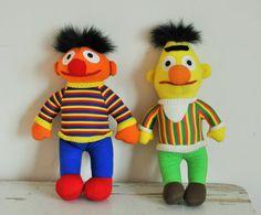 Vintage Bert and Ernie Dolls  Collectible Jim door BebesBazaar