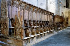 Choir stalls in Lund Chatedral. ca 1400. According to Erik Moltke they represent the richest woodwork in Northern Europe [of its time?] KLNM XVIII 1974: 619