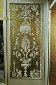beaux-artes-ornamentation-arabesque-panel - -my fascination with doors and panels remains . & handpainted panels with gold leaf \u0026 grisaille   Decorator Flairs ...