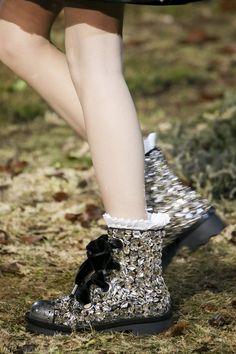 Festival legwear inspiration from Alexander McQueen Autumn/Winter 2014-15 Ready-To-Wear.
