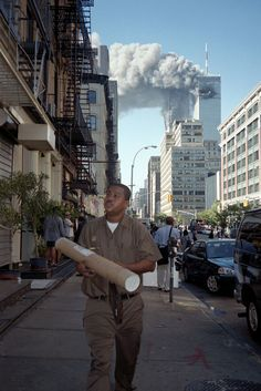 This might be the best photo I've seen from 9/11 - taken by street photographer Melanie Einzig.