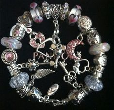 "Authentic Pandora ""Forever Love"" European Charm Bracelet with Giftbox"
