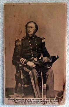 1861 Admiral Samuel Francis Dupont CDV, US Navy