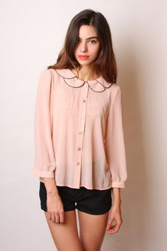 double collar blouse- Adorable shirt. Great with a pair of blue jeans and boots