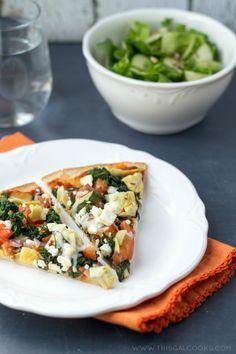 Healthy Tomato Spinach & Artichoke Pizza