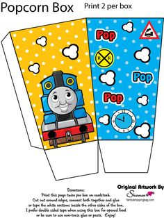 Thomas the Tank Engine printables, print invitations, bookmarks, Thomas the Tank coloring pages and more. Thomas Birthday Parties, Thomas The Train Birthday Party, Trains Birthday Party, Train Party, Train Coloring Pages, Printable Coloring Pages, Thomas And His Friends, Party Cartoon, Friend Birthday