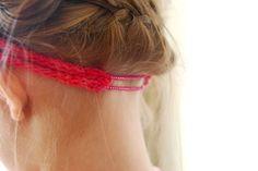 Great idea for a headband!
