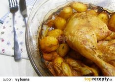Oběd z remosky recept - TopRecepty.cz Eastern European Recipes, Chicken Wings, Meat, Buffalo Wings