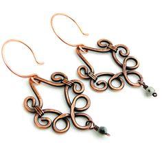 Chandelier Earrings Handcrafted Jewelry Tian Shan por KariLuJewelry