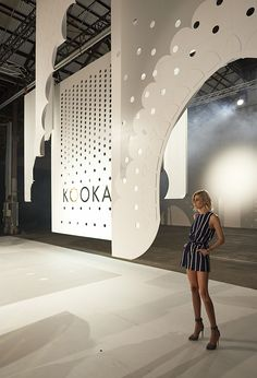 Gloss Creative | Kookai | SS15 Runway #glosscreative #kookai #setdesign #installation #creativedirection #floralstyling #runway #catwalk #fashionparade