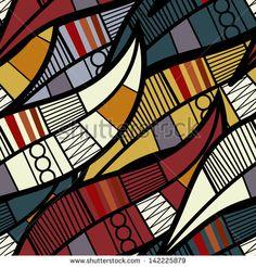Illustration of Seamless texture with floral elements vector art, clipart and stock vectors. Textile Patterns, Textile Prints, Textiles, African Fabric, African Art, Seamless Textures, Pattern Images, Motif Floral, Aboriginal Art