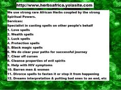 African Herbs, Luck Spells, Black Magic Spells, Protection Spells, Spiritual Power, Beautiful Body, Other People, Spelling, Body Art