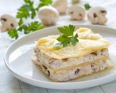 Lasagnes aux champignons et au fromage frais : http://www.fourchette-et-bikini.fr/recettes/recettes-minceur/lasagnes-en-mini-cocottes.html