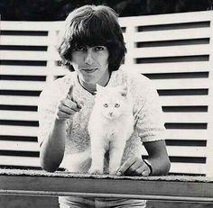 george harrison & a fabulous cat