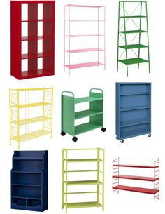 9 Shelving Units In Living Color Featuring The EXPEDIT ApartmentTherapy