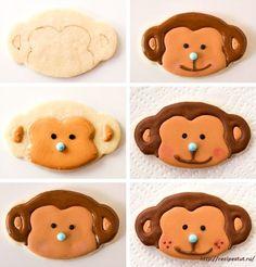 Новогодний десерт - Печенье «Обезьянка».