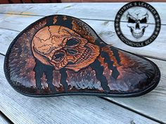 Dyrvik's Leather - Saddle and leather crafts 2019 Chevelle Ss, Chevy Camaro, Chevy Pickups, Leather Carving, Leather Tooling, Tooled Leather, Rat Rod Girls, Car Girls, Motorcycle Seats