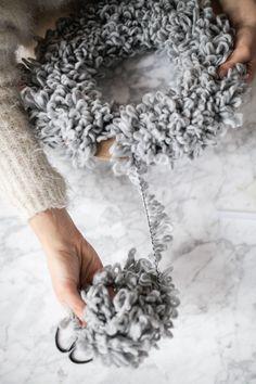 Pom Pom Wreath DIY — Treasures & Travels