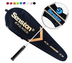 Buy Senston Graphite Single High-Grade Badminton Racquet, Professional Carbon Fiber Badminton Racket, Carrying Bag Included at Discounted Prices ✓ FREE DELIVERY possible on eligible purchases. Best Badminton Racket, Badminton Bag, Badminton Sport, Fibre Material, Racquet Sports, Purple Bags, Rackets, Carbon Fiber, Graphite