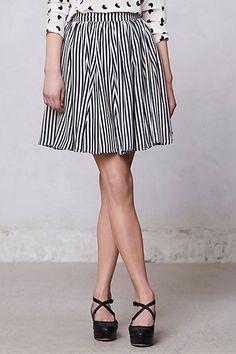 Penstripe Skirt #anthropologie