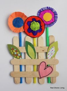 Spring Garden Popsicle Stick Craft