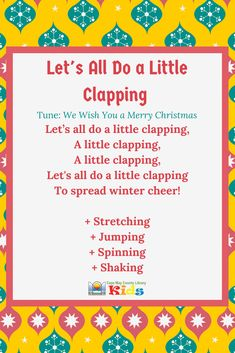 Such a fun action rhyme for the winter season! This song can easily be accompanied by shaky eggs and scarves! - Kids education and learning acts Kindergarten Songs, Preschool Music, Music Activities, Preschool Activities, Christmas Songs For Toddlers, Winter Songs For Preschool, Fingerplays For Preschoolers, Action Songs For Toddlers, Toddler Songs With Actions