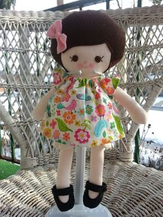 My Friend Sarah Janea handmade cloth doll por DandelionWishesMimi