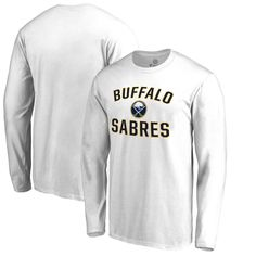 Buffalo Sabres Fanatics Branded Big & Tall Victory Arch Long Sleeve T-Shirt - White