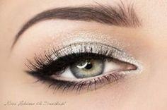 Silver eye make up Homecoming Makeup, Prom Makeup, Wedding Makeup, Dress Makeup, Prom Hair, Makeup Goals, Makeup Inspo, Makeup Inspiration, Makeup Tips
