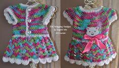 Dog Sweater Crocheted KITTY Dress Yorkie ❤❤❤