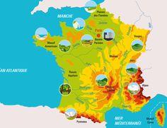 CULTURE - Carte interactive sur les grands types de paysages français