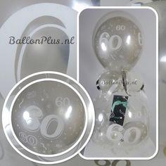 Cadeau - Kado Ballon - 60 - Zilver - Hartelijk Gefeliciteerd - Latex Top ballon   Cadeau Ballon Kadoballon   ballonplus.nl