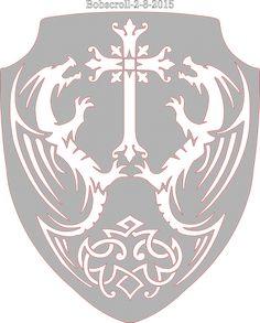 Celtic Shield Cross & Dragons - New Patterns - User Gallery - Scroll Saw Village