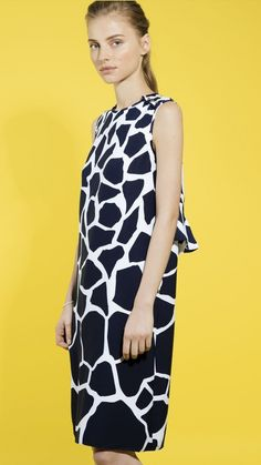Printed relaxed-fit dress