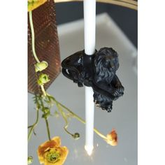 Candle holder Lion 15x7x9cm (8) Black - Candleholders - Decorations - Products