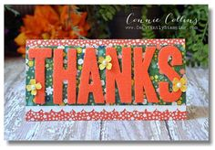 Big Thanks Card by Connie Collins using the felt letters from the February 2015 Paper Pumpkin kit.