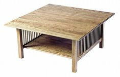 American Mission Square Coffee Table Craftsman Collection This exceptional table is one of our best-sellers - and it's easy to see why. At the heart of this American Mission Coffee Tabl