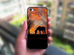Pretty sunset with horse by a tree iPhone 6 case, iPhone 6 Plus case, iPhone 5C case, iPhone 5S by XSW22, $14.98.  Check out the artist's link.