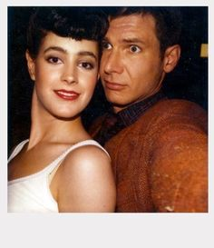 ✖✖✖ Sean Young & Harrison Ford, Blade Runner / backstage polaroids ✖✖✖